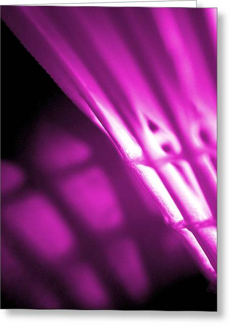 Badminton Shuttlecock Abstact - Pink Greeting Card by Natalie Kinnear