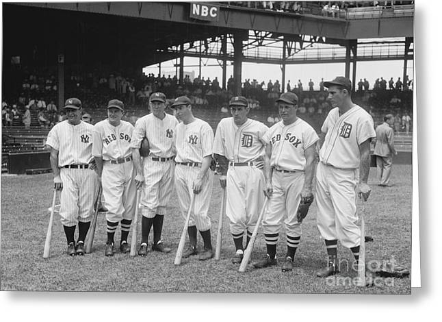 Baesball American League All Stars - 1937 Greeting Card by Pg Reproductions