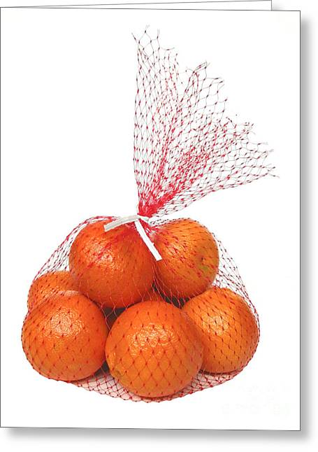 Bag Of Oranges Greeting Card by Ann Horn