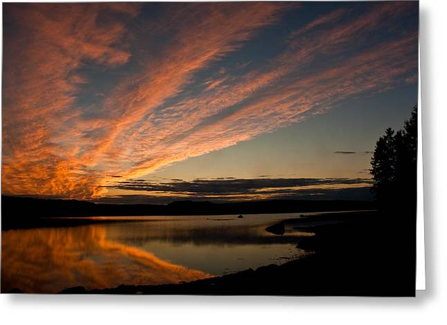 Bagaduce Sunset Greeting Card by Greg DeBeck