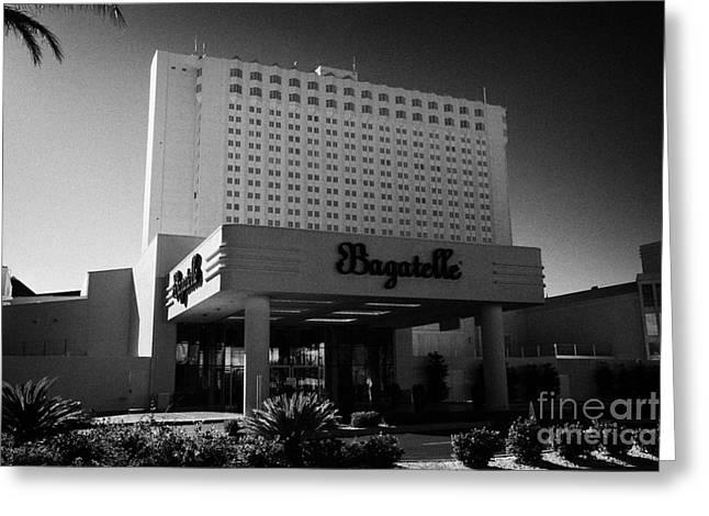 bagatelle beach and nightclub at the tropicana Las Vegas Nevada USA Greeting Card by Joe Fox