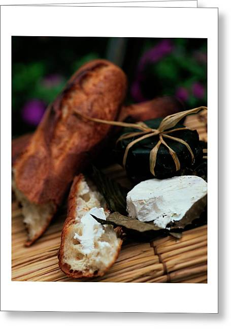 Baguettes And Banon Cheese Greeting Card