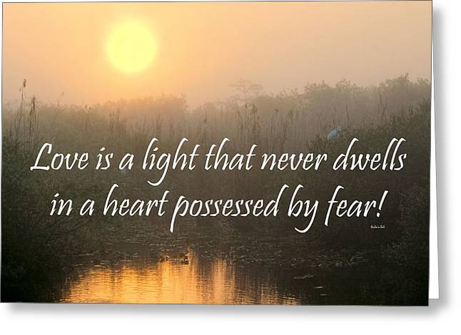 Bahai Quote Sunrise Greeting Card by Rudy Umans