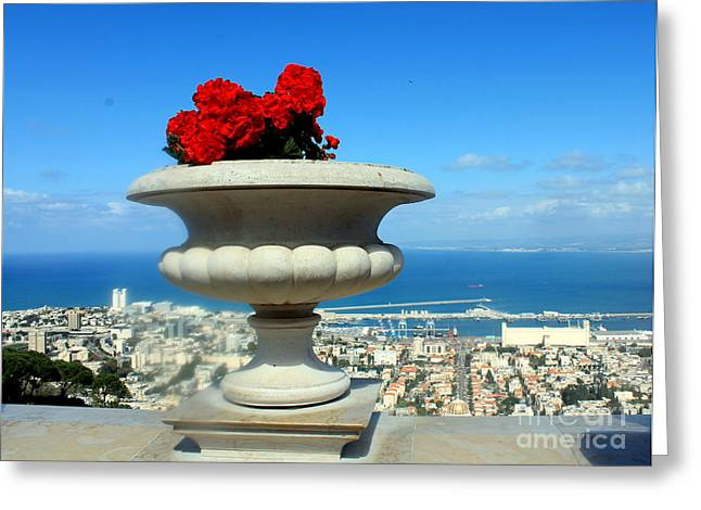 Bahai's Garden - Haifa Greeting Card