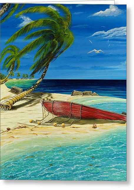 Bahama Beach Greeting Card