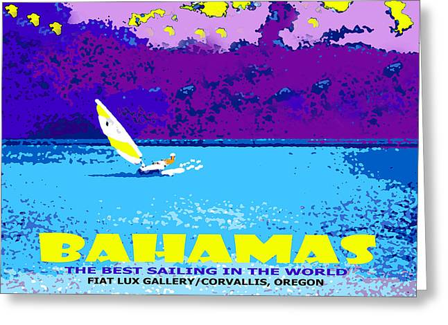 Bahamas Sailing IIi Greeting Card