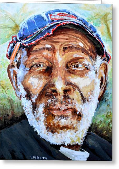 Bahamian Old Man Greeting Card