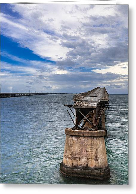 Bahia Honda Bridge By Day Greeting Card by Dan Vidal