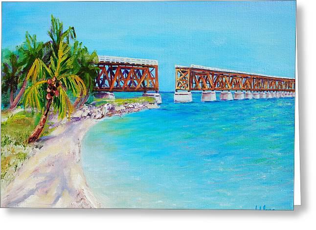Bahia Honda Bridge Greeting Card by Gisele Long