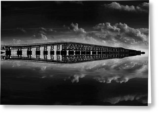 Bahia Honda Bridge Reflection Greeting Card