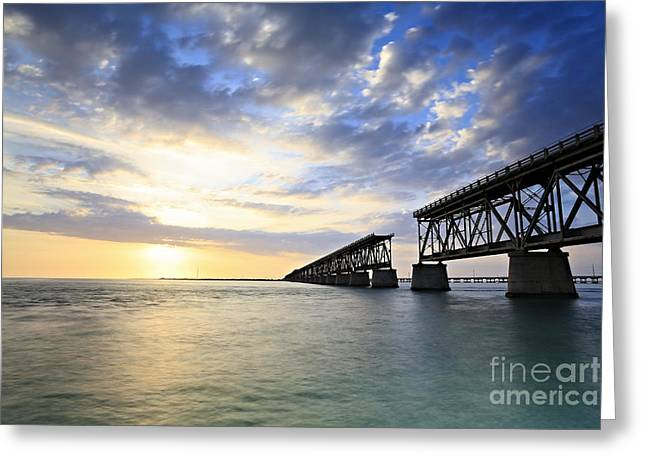 Bahia Honda Old Bridge Greeting Card by Eyzen Medina