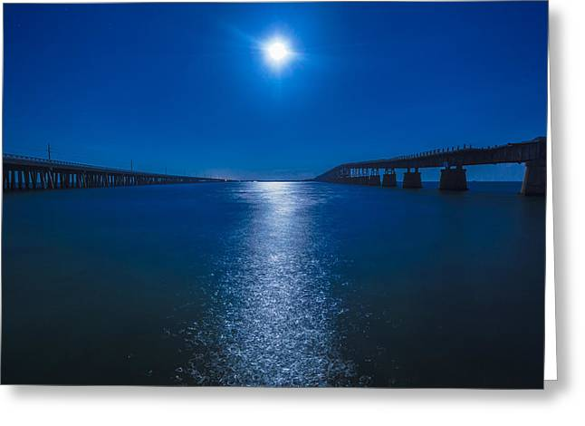 Bahia Moonrise Greeting Card by Dan Vidal