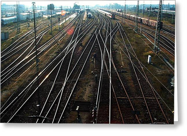 Greeting Card featuring the photograph Bahnhof Cottbus by Marc Philippe Joly
