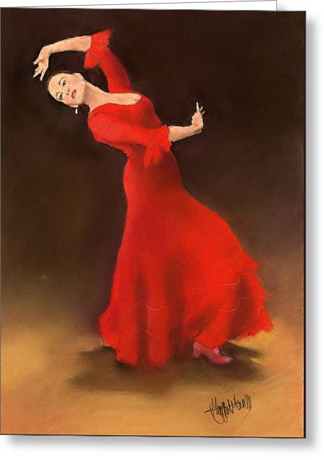 Bailaora Greeting Card by Margaret Merry