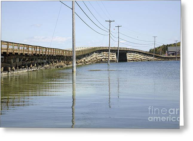 Bailey Island Bridge - Harpswell Maine Usa Greeting Card by Erin Paul Donovan