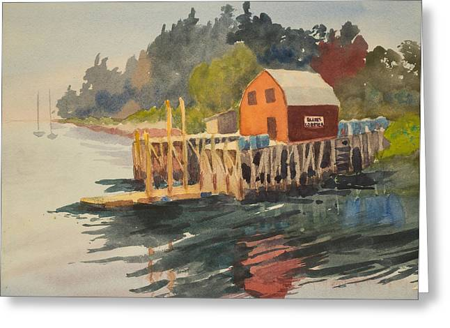 Bailey Island Greeting Card by Peggy Poppe