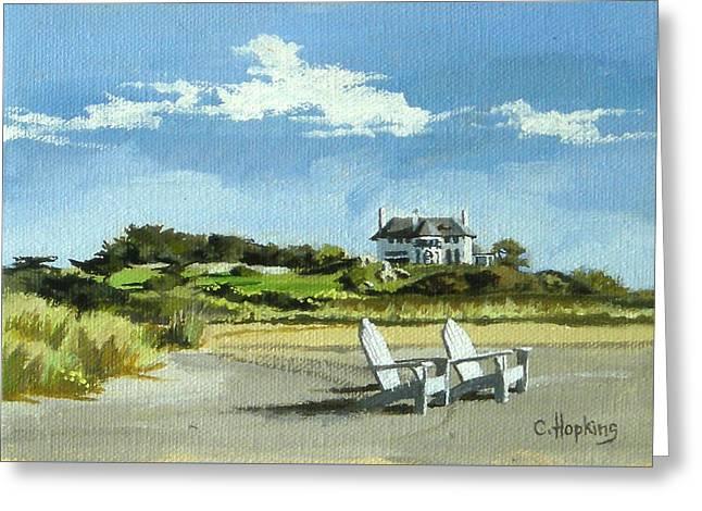 Bailey's Beach Newport Rhode Island Greeting Card