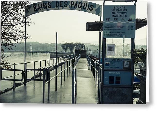 Bains Des Paquis Greeting Card