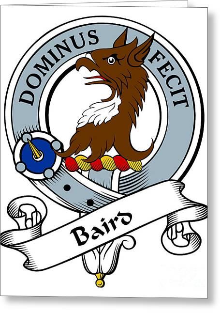 Baird Clan Badge Greeting Card by Heraldry