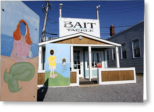 Bait And Tackle Greenport New York Greeting Card