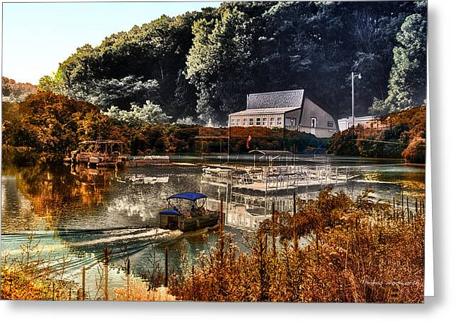 Bait Shop And Restaurant 02 Merged Image Greeting Card by Thomas Woolworth