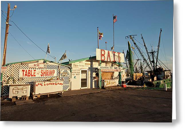 Bait Stand At Fulton Harbor, Fulton Greeting Card