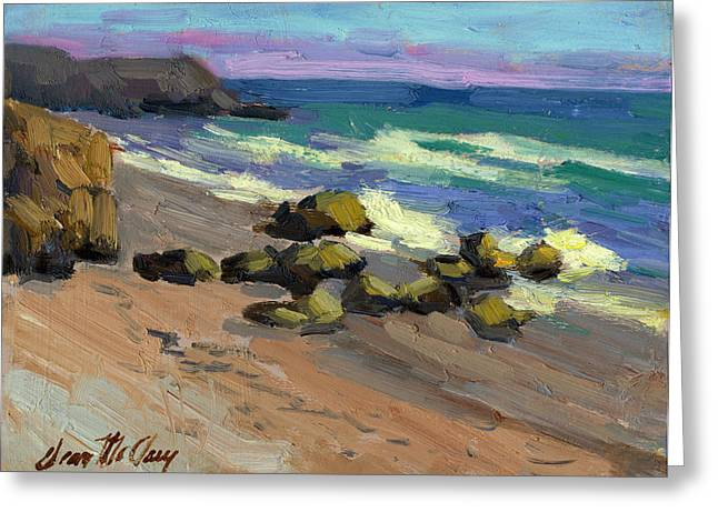 Baja Beach Greeting Card by Diane McClary