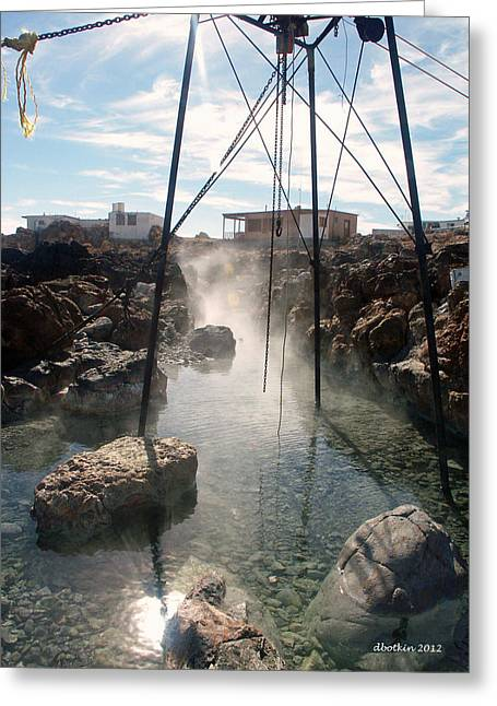 Greeting Card featuring the photograph Baja Hot Springs by Dick Botkin