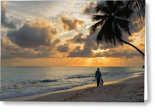 Greeting Card featuring the photograph Bajan Fisherman by Garvin Hunter