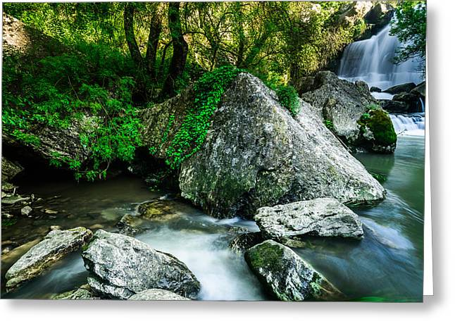 Bajouca Waterfall Greeting Card