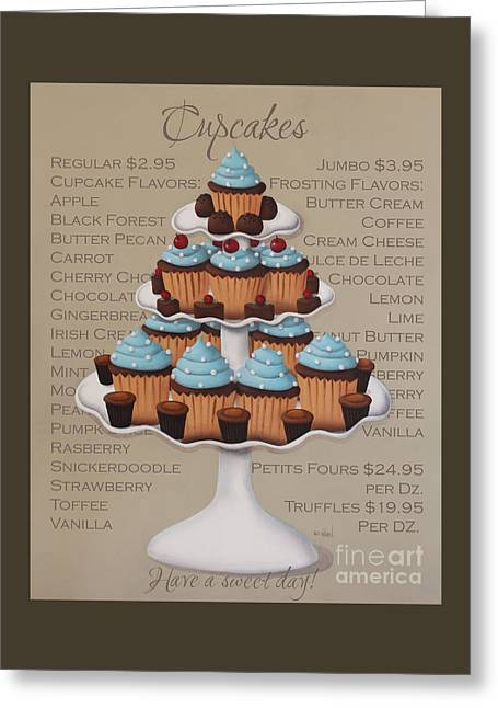Baked Fresh Daily Greeting Card by Catherine Holman