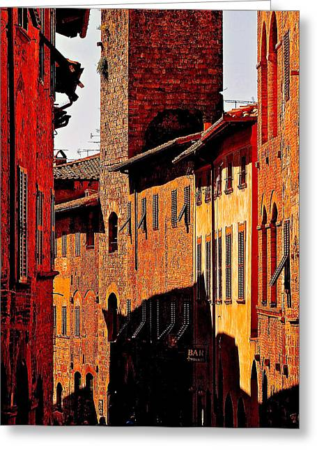 Baked In The Tuscan Sun Greeting Card by Ira Shander