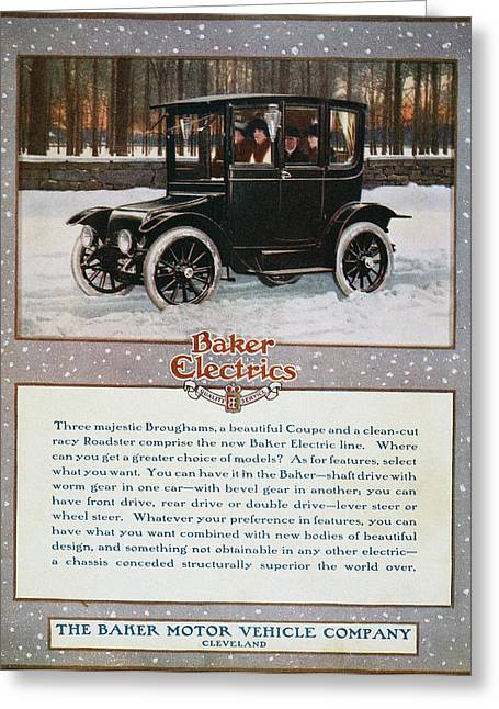 Baker Automobile Ad, 1914 Greeting Card by Granger