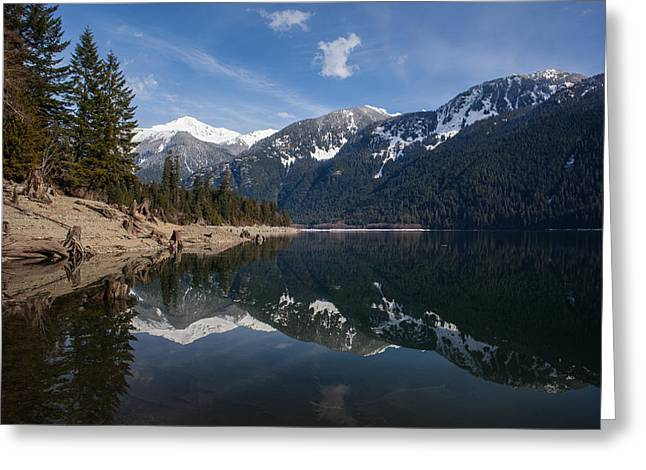 Baker Lake Clarity Greeting Card by Mike Reid