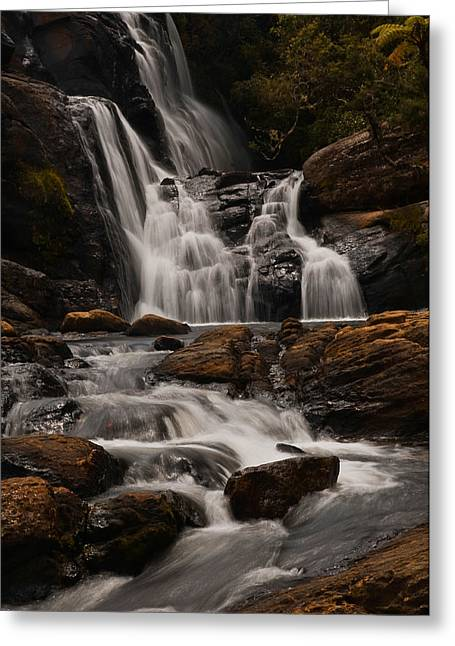 Bakers Fall. Horton Plains National Park. Sri Lanka Greeting Card