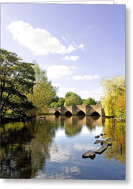 Bakewell Bridge - Over The River Wye Greeting Card