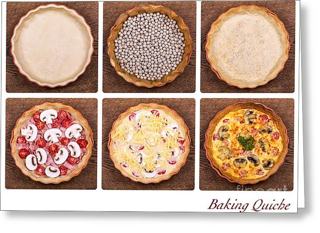 Baking Quiche Greeting Card