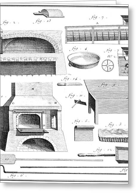 Baking Tools, 18th Century Greeting Card by Granger