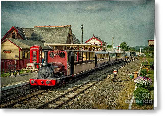 Bala Lake Railway Greeting Card by Adrian Evans