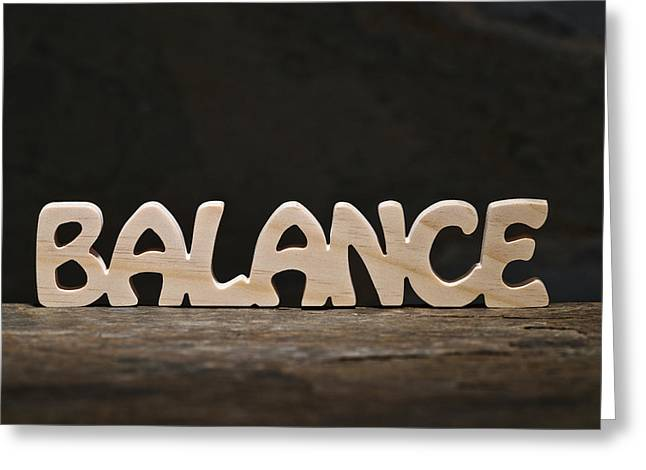 Balance Greeting Card by Donald  Erickson