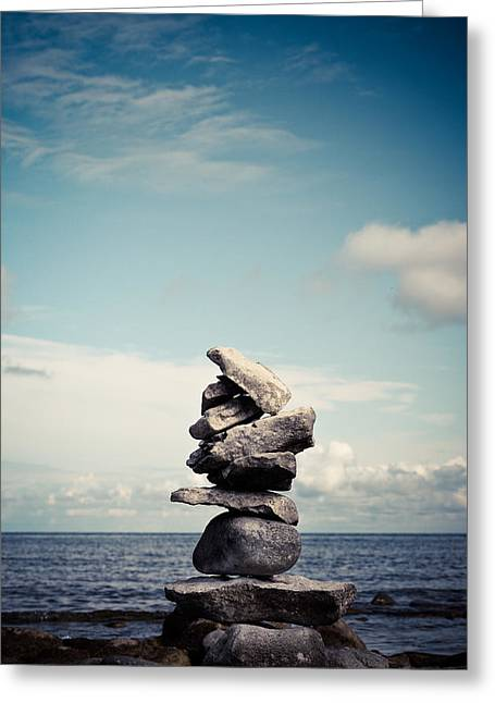Balance Greeting Card by Olivia StClaire