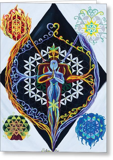 Balance Greeting Card by Siobhan Shier