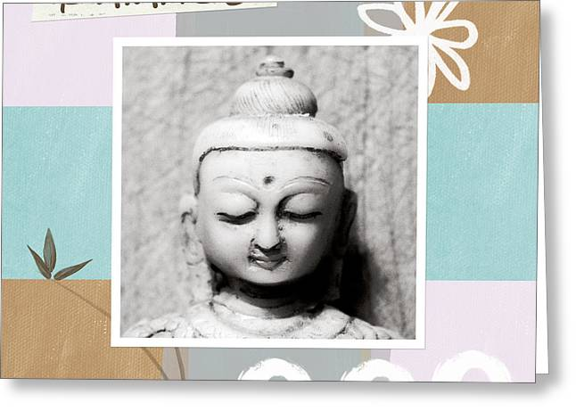 Balance- Zen Art Greeting Card by Linda Woods