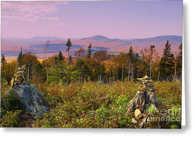 Balanced Living In Maine Greeting Card by Brenda Giasson