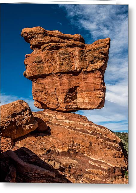Balanced Rock Garden Of The Gods Greeting Card by Paul Freidlund