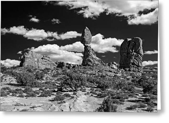 Greeting Card featuring the photograph Balanced Rock by Larry Carr