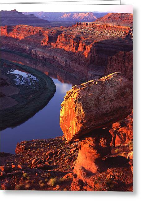 Balanced Rock On The Gooseneck Greeting Card by Ray Mathis