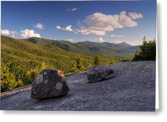 Balanced Rocks On Pitchoff Mountain Greeting Card by Panoramic Images