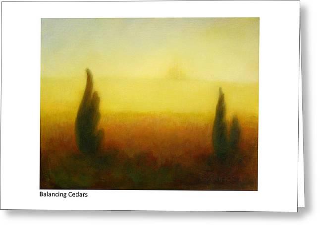 Balancing Cedars Greeting Card