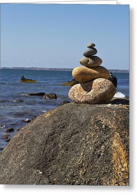 Balancing Rock 2 Greeting Card by Rosie McCobb